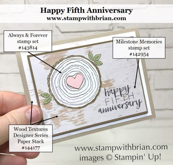 Always & Forever, Milestone Moments, Stampin' Up!, Brian King