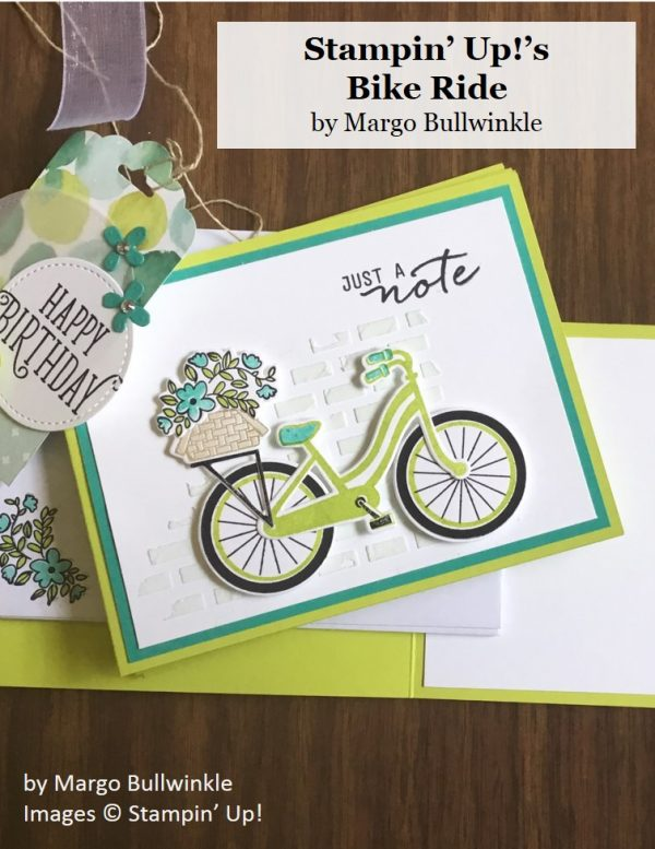 Bike Ride, Stampin' Up!, by Margo Bullwinkle, inspired by Heather Cooper