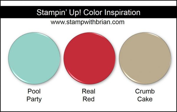 Stampin' Up! Color Inspiration: Pool Party, Real Red, Crumb Cake