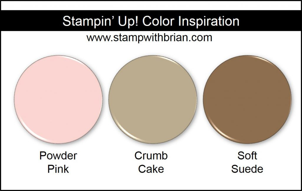 Stampin' Up! Color Inspiration: Powder Pink, Crumb Cake, Soft Suede