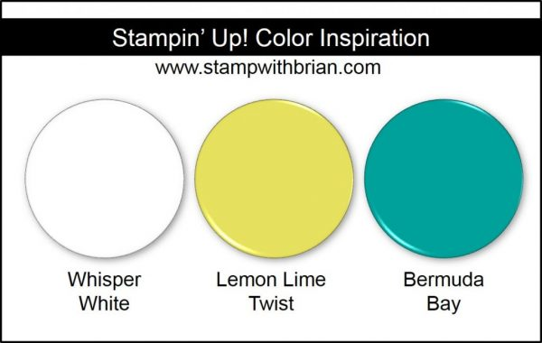 Stampin' Up! Color Inspiration: Whisper White, Lemon Lime Twist, Bermuda Bay