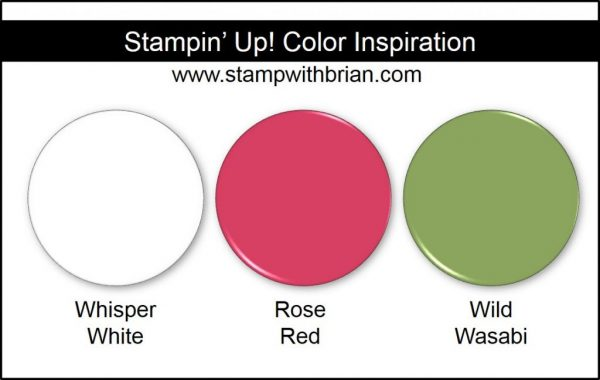 Stampin' Up! Color Inspiration: Whisper White, Rose Red, Wild Wasabi