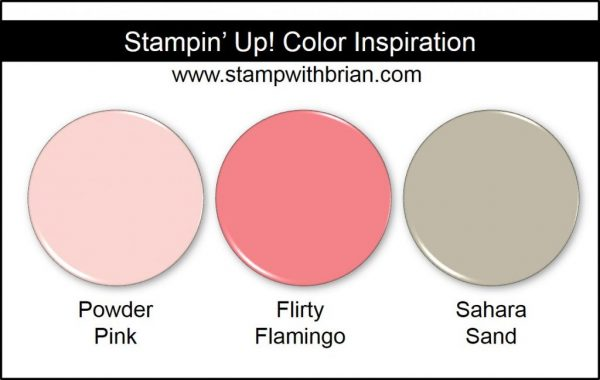 Stampin' Up! Color Inspiration: Powder Pink, Flirty Flamingo, Sahara Sand