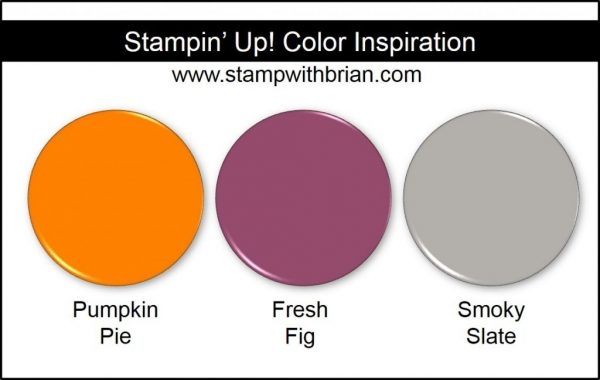 Stampin' Up! Color Inspiration: Pumpkin Pie, Fresh Fig, Smoky Slate