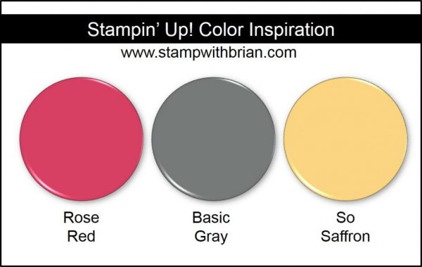 Stampin' Up! Color Inspiration: Rose Red, Basic Gray, So Saffron