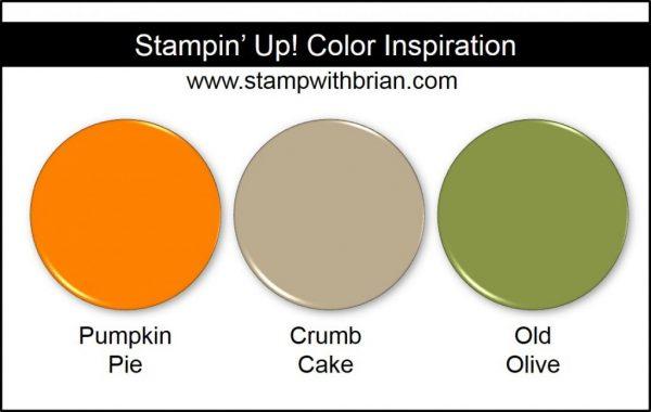 Stampin' Up! Color Inspiration: Pumpkin Pie, Crumb Cake, Old Olive