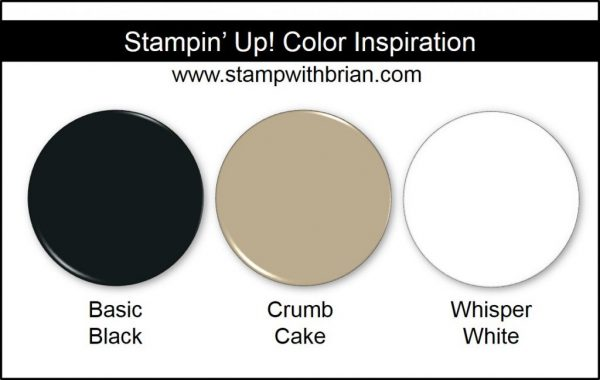 Stampin' Up! Color Inspiration: Basic Black, Crumb Cake, Whisper White