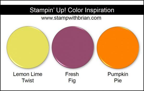Stampin' Up! Color Inspiration: Lemon Lime Twist, Fresh Fig, Pumpkin Pie