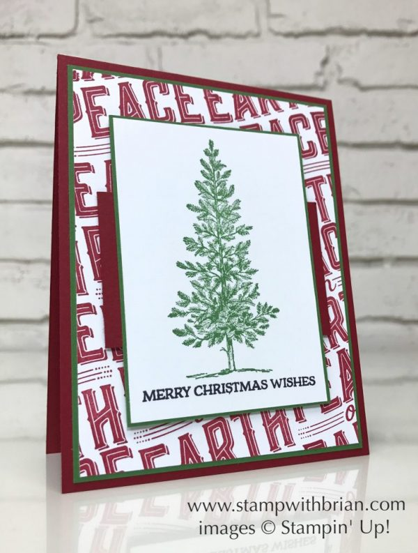 Carols of Christmas, Lovely as a Tree, Santa's Sleigh, Stampin' Up!, Brian King, Christmas card