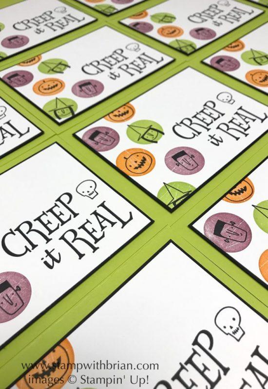 Creep it Real, Stampin' Up!, Brian King, Halloween card