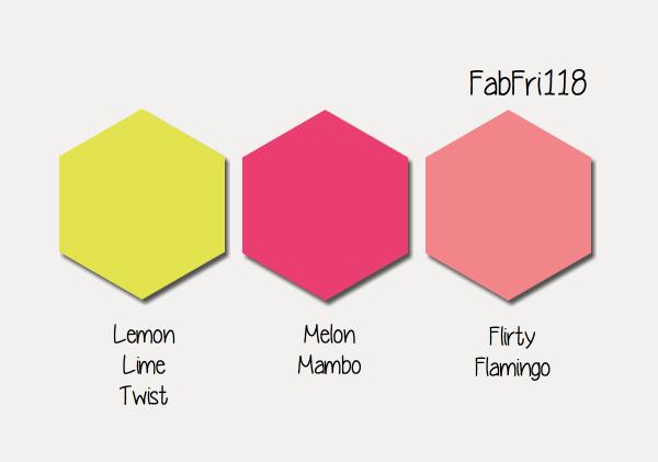 Stampin' Up! Color Inspiration: Lemon Lime Twist, Melon Mambo, Flirty Flamingo