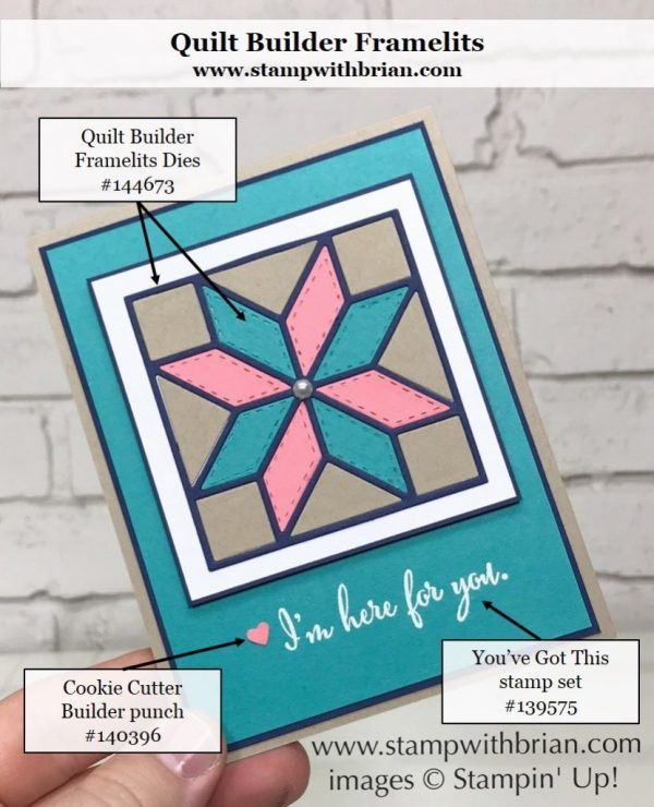 Quilt Builder Framelits Dies, You've Got This, Stampin' Up!, Brian King, GDP101