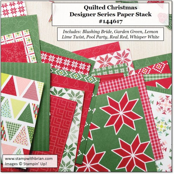 Quilted Christmas Desiger Series Paper Stack, Stampin' Up!