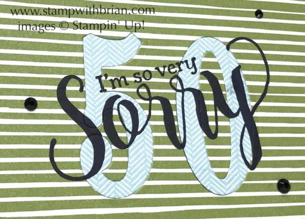 So Very Sorry, Large Numbers Framelits Dies, Stampin' Up!, Snarky birthday card
