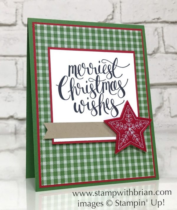 Watercolor Christmas, Stampin' Up!, Brian King, simple Christmas Card