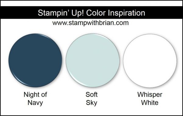 Stampin' Up! Color Inspiration: Night of Navy, Soft Sky, Whisper White