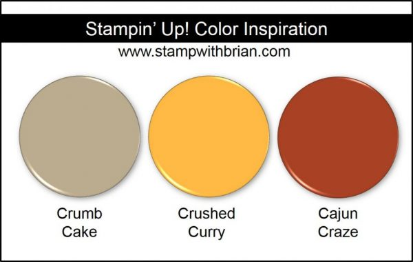 Stampin' Up! Color Inpsiration: Crumb Cake, Crushed Curry, Cajun Craze