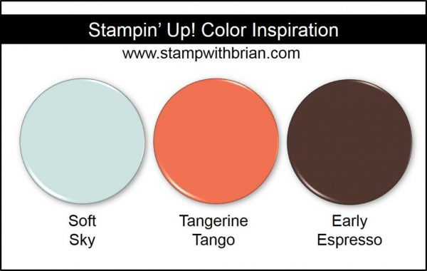 Stampin' Up! Color Inspiration: Soft Sky, Tangerine Tango, Early Espresso