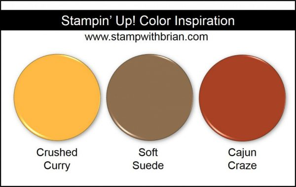 Stampin' Up! Color Inspiration: Crushed Curry, Soft Suede, Cajun Craze