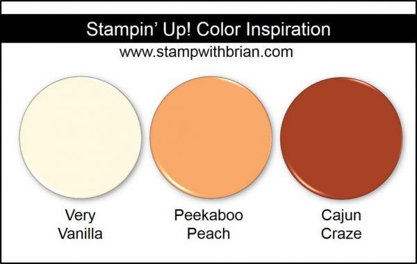 Stampin' Up! Color Inspiration: Very Vanilla, Peekaboo Peach, Cajun Craze