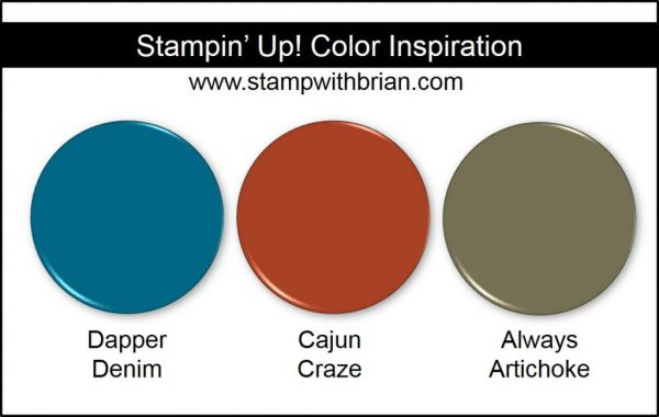 Stampin' Up! Color Inspiration: Dapper Denim, Cajun Craze, Always Artichoke