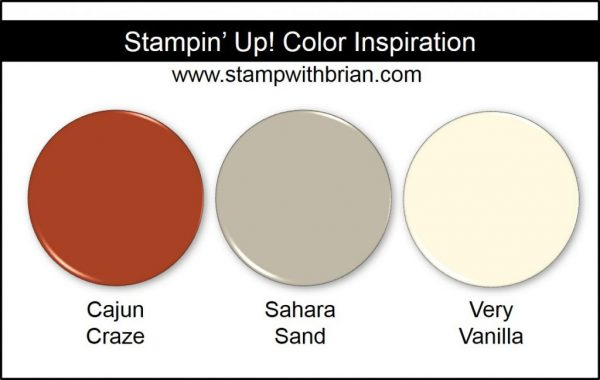 Stampin' Up! Color Inspiration: Cajun Craze, Sahara Sand, Very Vanilla