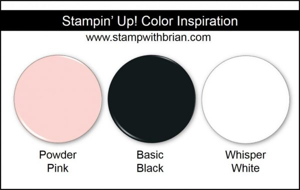 Stampin' Up! Color Inspiration: Powder Pink, Basic Black, Whisper White