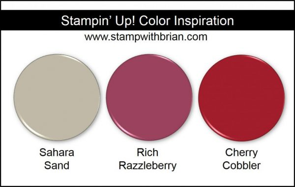 Stampin' Up! Color Inspiration: Sahara Sand, Rich Razzleberry, Cherry Cobbler
