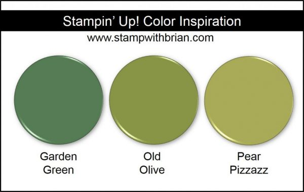 Stampin' Up! Color Inspiration: Garden Green, Old Olive, Pear Pizzazz