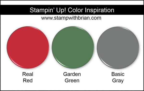 Stampin' Up! Color Inspiration: Real Red, Garden Green, Basic Gray
