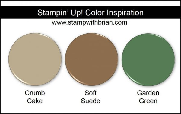 Stampin' Up! Color Inspiration: Crumb Cake, Soft Suede, Garden Green