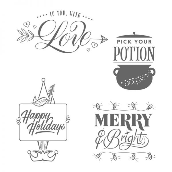 Festive Phrases, Stampin' Up!, 144960