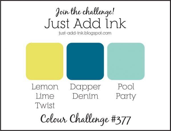 Stampin' Up! Color Inspiration: Lemon Lime Twist, Dapper Denim, Pool Party