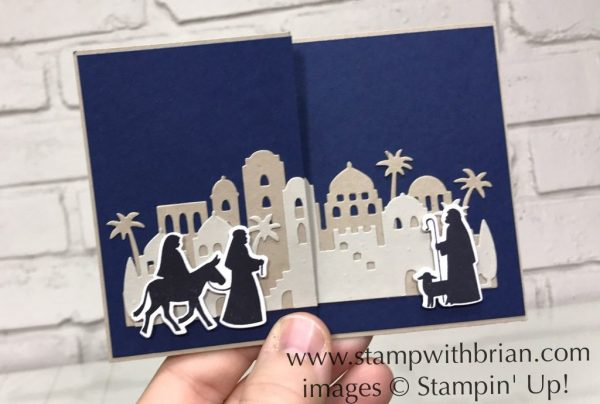 Night in Bethlehem, Star of Light, Stampin' Up!, Brian King, Christmas card