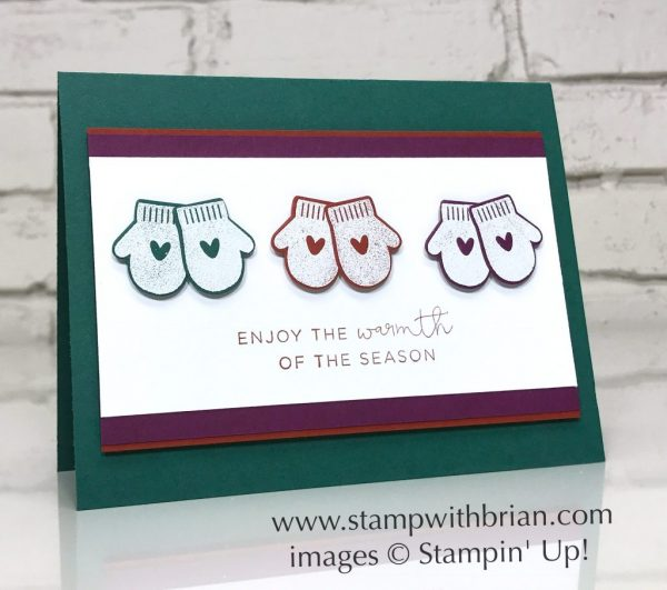 Smitten Mittens, Hearts Come Home, Stampin' Up!, Brian King, Christmas card, FabFri122