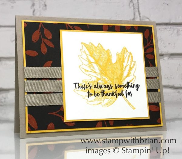 Vintage Leaves, Orange Blossom, Stampin' Up!, Brian King, Thanksgiving