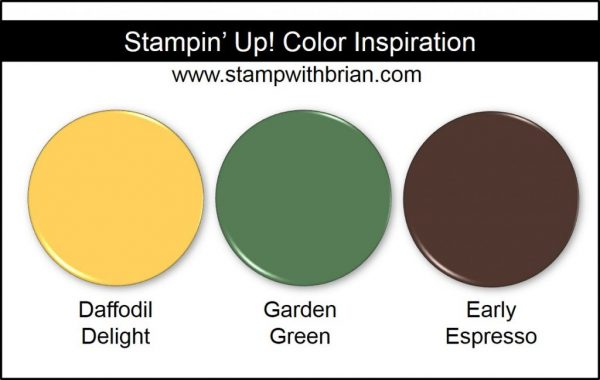 Stampin' Up! Color Inspiration: Daffodil Delight, Garden Green, Early Espresso