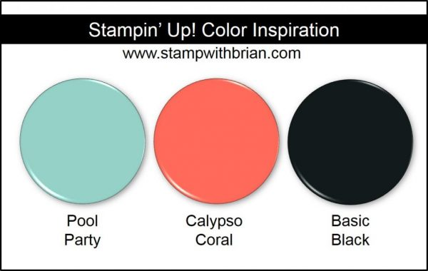 Stampin' Up! Color Inspiration: Pool Party, Calypso Coral, Basic Black