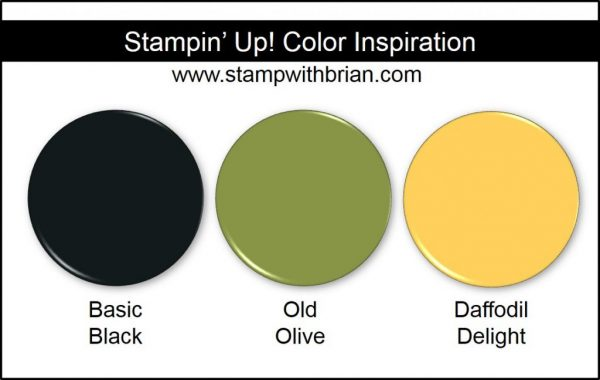 Stampin' Up! Color Inspiration: Daffodil Delight, Old Olive, Basic Black