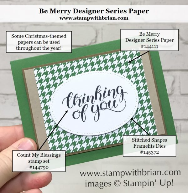 Count My Blessings, Be Merry Designer Series Paper, Stampin' Up!