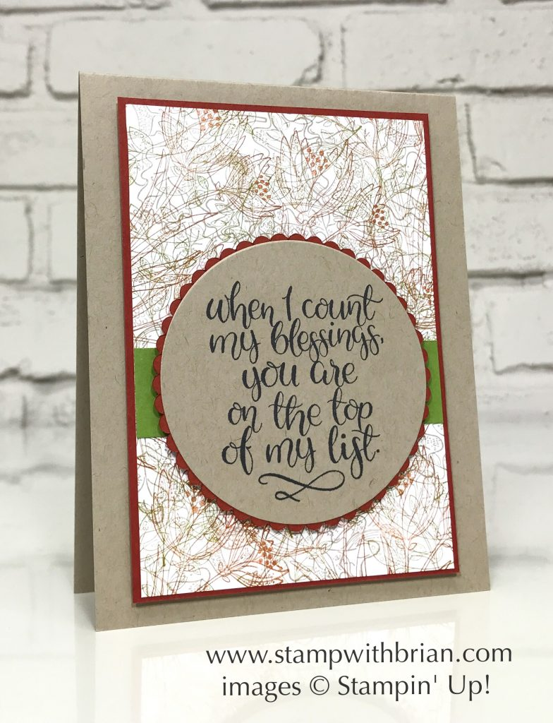 Count My Blessings, Stampin' Up!, Brian King