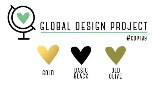 Stampin' Up! Color Inspiration: Gold, Basic Black, Old Olive