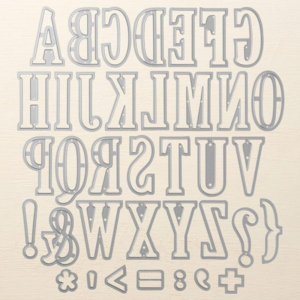 Large Letters Framelits, Stampin' Up! 141712