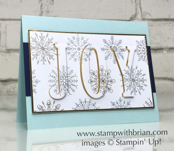 Large Letters Framelits, Year of Cheer Specialty Designer Series Paper, Eclipse card, Stampin' Up!, Brian King