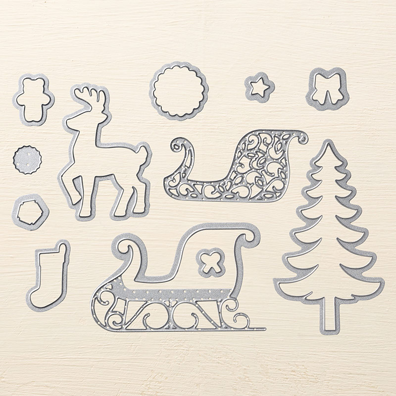 Santa's Sleigh Thinlits, Stampin' Up! 140278