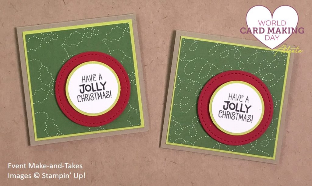 Santa's Suit, WCMD2017 Make-and-Take, Stampin' Up!