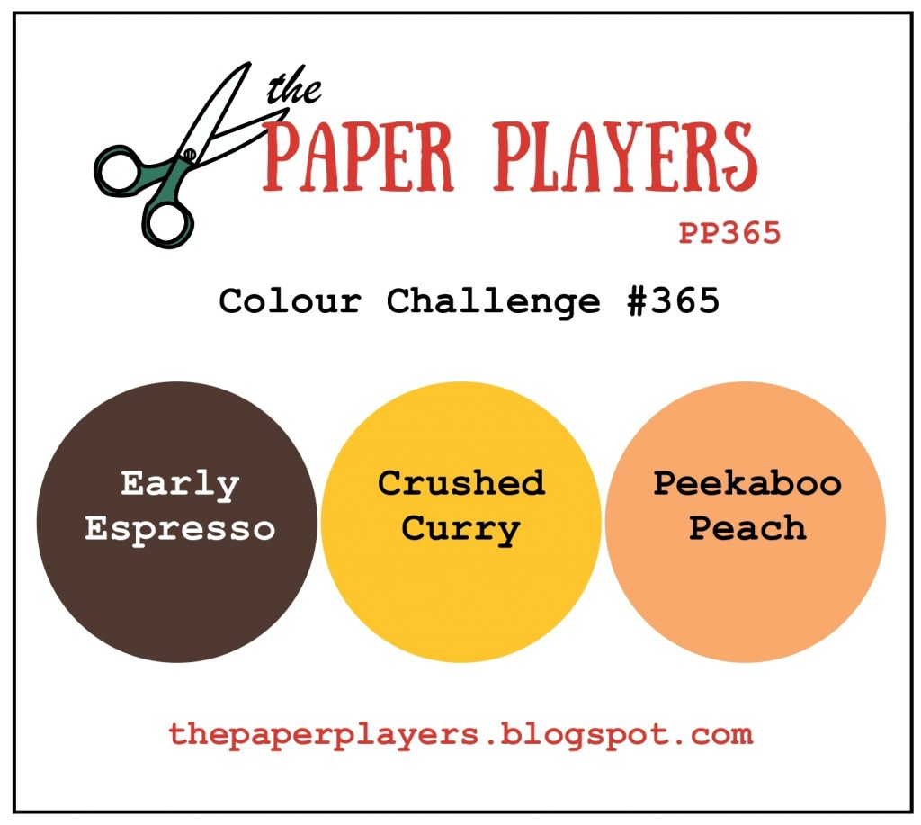 Stampin' Up! Color Inspiration: Early Espresso, Crushed Curry, Peekaboo Peach