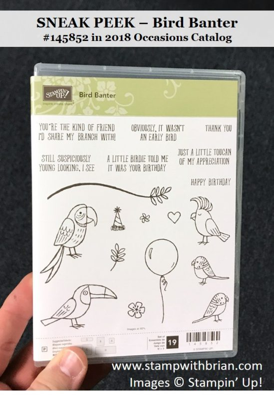 Bird Banter, Stampin' Up!, Brian King, #145852