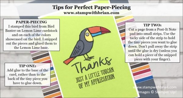 Tips for Perfect Paper-Piecing, Brian King, Stampin' Up!