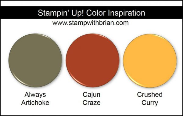 Stampin' Up! Color Inspiration: Always Artichoke, Cajun Craze, Crushed Curry